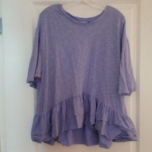 Anthropologie Periwinkle Dropped Shoulder Tee